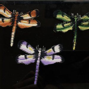 3pc Colorful Dragonflies Iron On Patch Applique